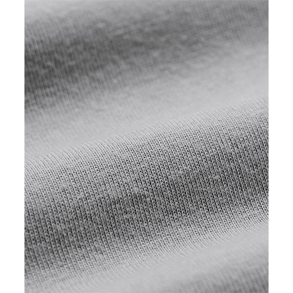 袖刺しゅう異素材切替プルオーバー