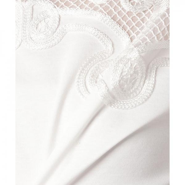 チュール切替半袖Tシャツ