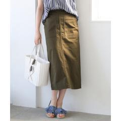 ベイカーストレッチタイトロングスカート【お取り寄せ商品】