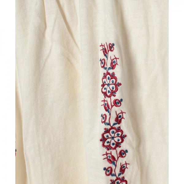 女スラブガーゼ天竺Tシャツ(90~120cm)