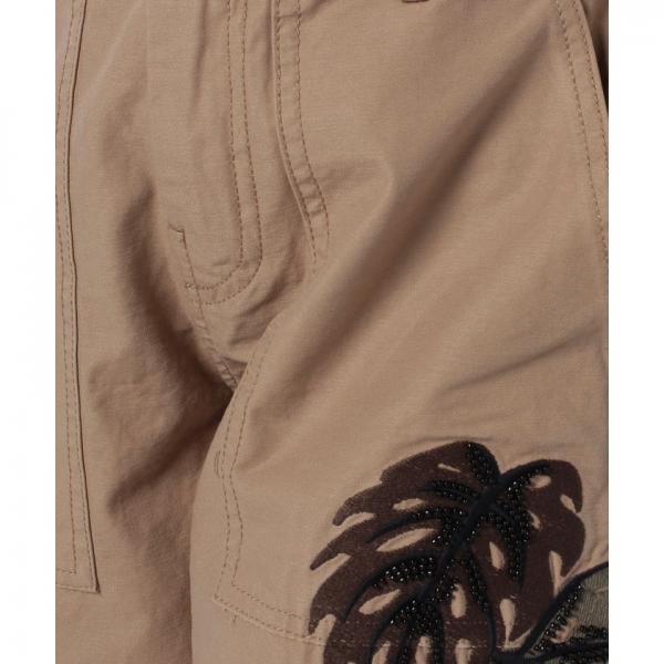 刺繍サファリハーフパンツ