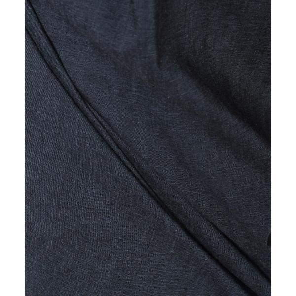 ベルト付き麻混ワイドパンツ