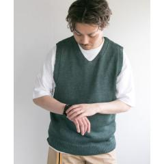 LINEN KNIT VEST【お取り寄せ商品】