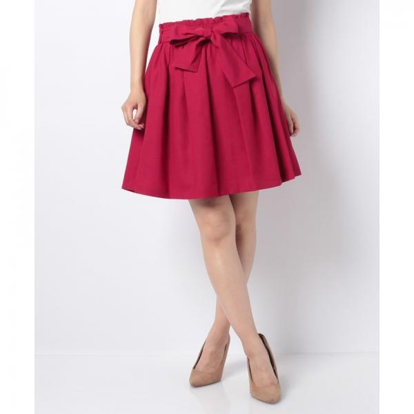 ウエストリボンフリルギャザースカート