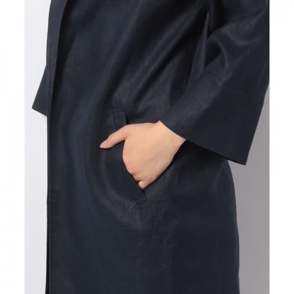 ノーカラーロングジャケット