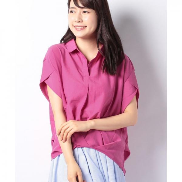 裾タックチュニックシャツ