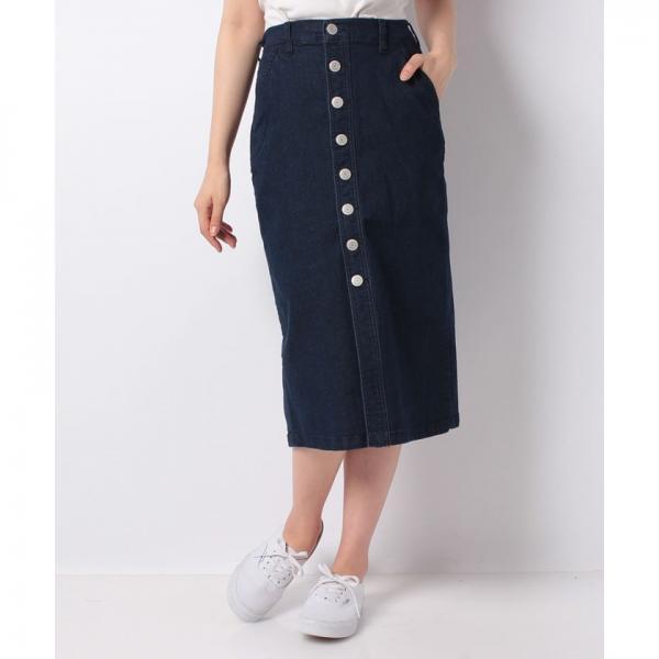 サス付きフロントボタンスカート