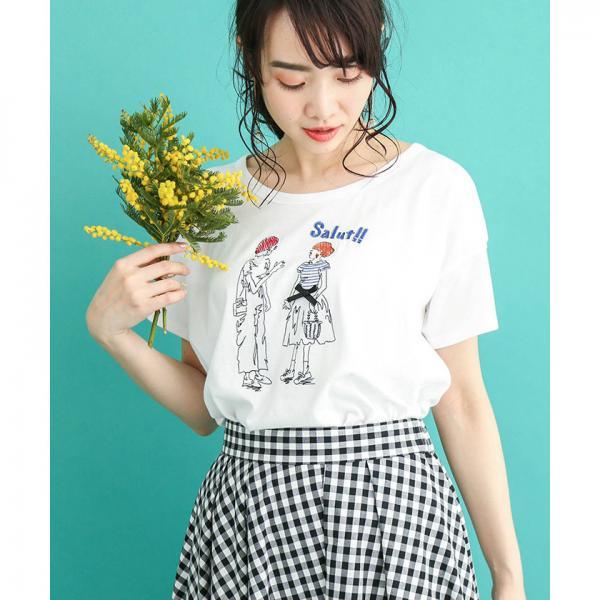 【BEATRICE/ベアトリス】フレンチガールズ刺繍Tシャツ