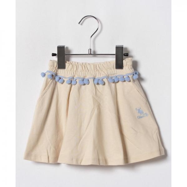 ボンボンレース付きスカート
