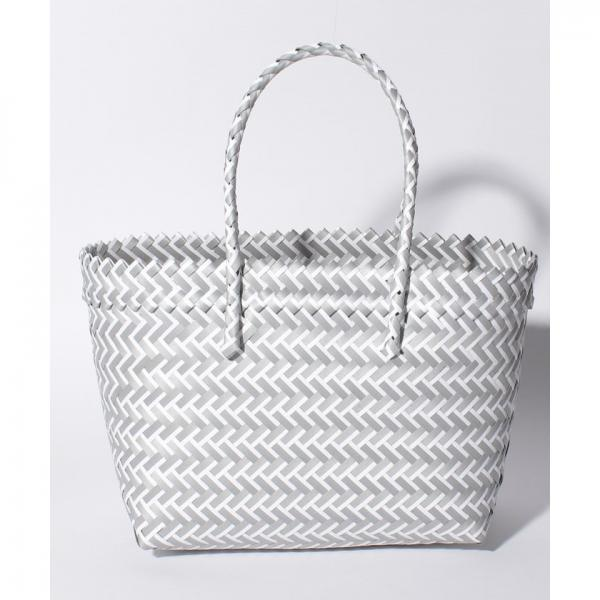幾何学柄編みトートバッグ【A4サイズ対応】