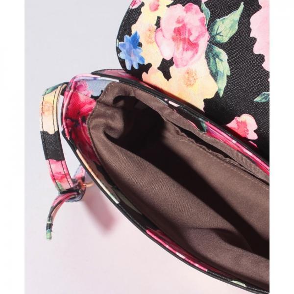 花柄フェイクレザーショルダーバッグ