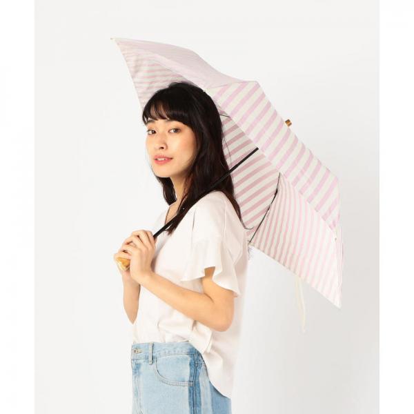 ストライプ折りたたみ晴雨傘【お取り寄せ商品】