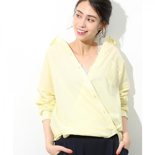 【2WAY】カシュクールビッグシャツ