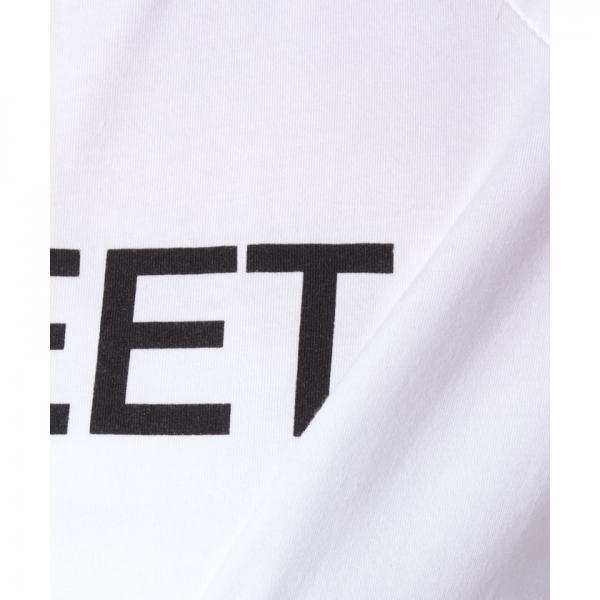 アームラインプリントクロップドTシャツ