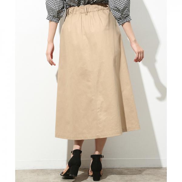 コットンツイルAラインスカート
