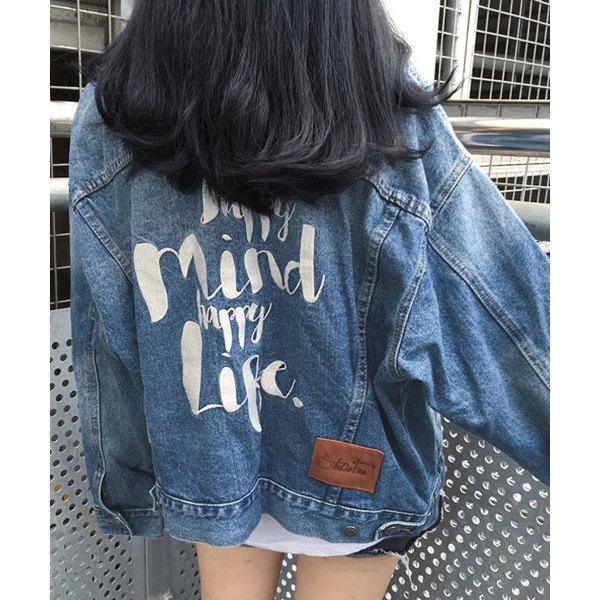 ロゴ刺繍オーバーサイズデニムジャケット【お取り寄せ商品】