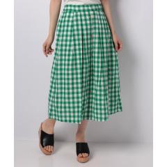 ギンガム前ボタンスカート