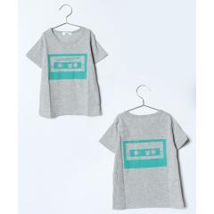 カセットテープ柄プリントTシャツ