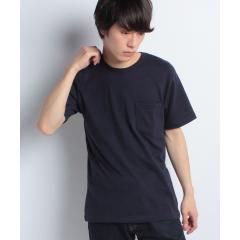 オーガニックコットン天竺クルーネックポケットTシャツ