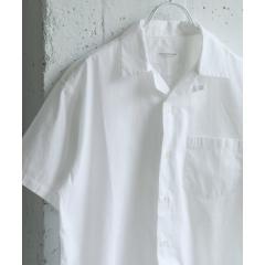 GIZA綿オープンカラーシャツ【お取り寄せ商品】