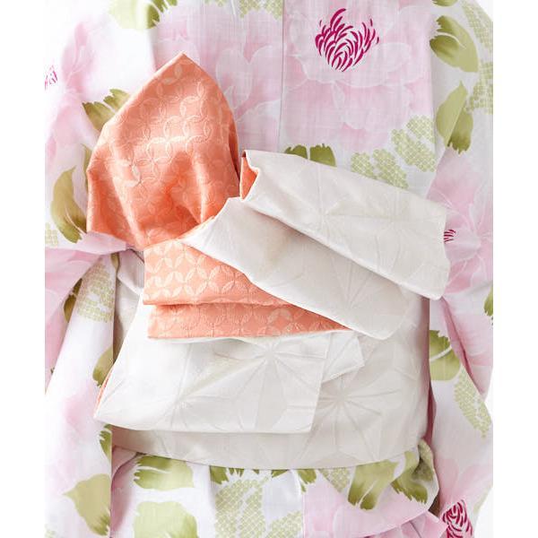 <3点セット>浴衣「牡丹」・帯・下駄