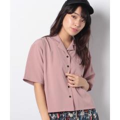 オープンカラークロップドシャツ(5)