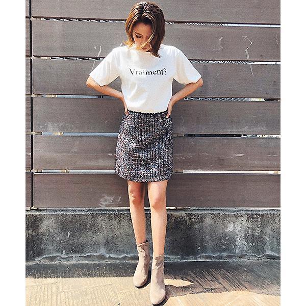 ミックスツイードタイトスカート