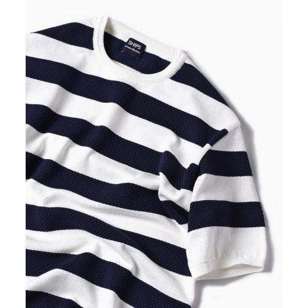 SC: MADE IN JAPAN コットン/リネン チェンジ プルオーバー ニット Tシャツ【お取り寄せ商品】