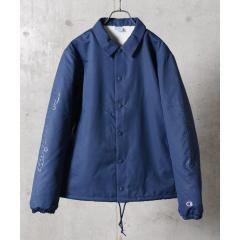 b30315368baa Champion×SHIPS JET BLUE: 別注 スリーブロゴプリント コーチジャケット【お取り寄せ商品