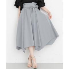 KBF+ イレギュラーヘムウエストリボンスカート【お取り寄せ商品】