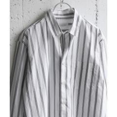 ストライプロングスリーブシャツ【お取り寄せ商品】