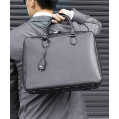 SD:【SAFFIANO LEATHER】ドレス レザーブリーフ バッグ【お取り寄せ商品】