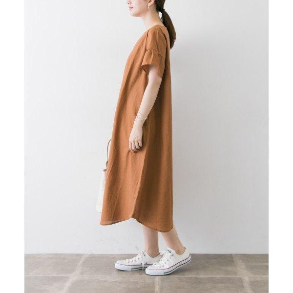 リネンデザインワンピース【お取り寄せ商品】