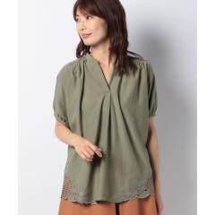 スパン裾刺繍プルオーバー