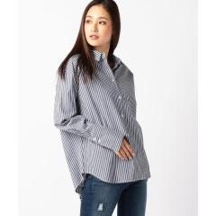 【steady.・mina11月号掲載】ダブルタック折り返しシャツ【お取り寄せ商品】