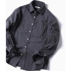 SC: ドットプリント レギュラーカラー ネルシャツ【お取り寄せ商品】