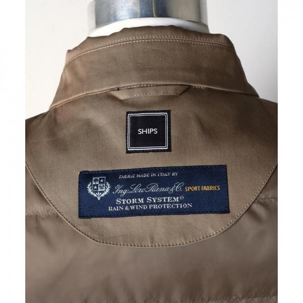 SD: LORO PIANA 【STORMSYSTEM】 コットン ステンカラーコート(カーキ)【お取り寄せ商品】