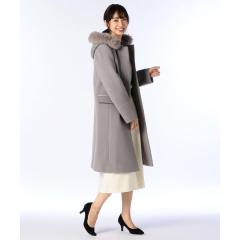 フォックスファー付2wayコート【お取り寄せ商品】