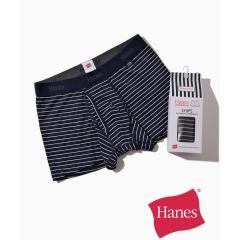 Hanes×SHIPS: 消臭糸使用 コットン ストレッチ ボーダー ボクサーパンツ【お取り寄せ商品】