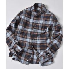 SD:ウォッシュド タータンチェック ネルシャツ(ブラウン)【お取り寄せ商品】