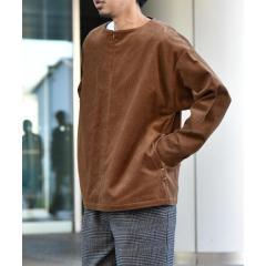 SU: 8W コーデュロイ プルオーバー シャツ【お取り寄せ商品】