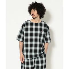 BOHEMIANS/ボヘミアンズ OMBRE CHECK PULL S/S SHIRT【お取り寄せ商品】