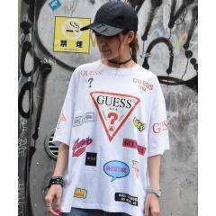【別注】Guess×ROYAL FLASH/ゲス ロゴプリント Tシャツ【お取り寄せ商品】