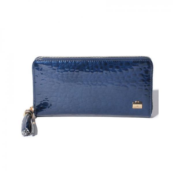 6ca04f2a51e0 LOHACO - クロコ型押しエナメル 長財布 (財布) MAGASEEK