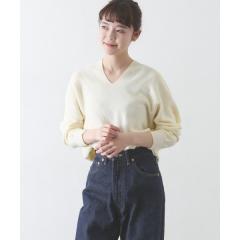 コットンVネックニット【お取り寄せ商品】