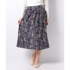 パッチワーク柄スカート