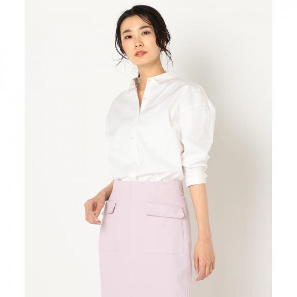 [新色追加]【WEB限定色】パール釦裾2-WAYシャツ【お取り寄せ商品】