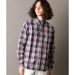 SERO×SHIPS JET BLUE: 別注 マドラスチェック ボタンダウンシャツ【お取り寄せ商品】