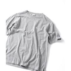 SHIPS JET BLUE×Champion: 別注 リラックス・バックビックロゴTシャツ【お取り寄せ商品】