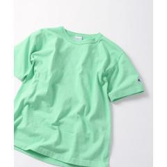 【MEN'S NON-NO 5月号 p.111掲載】SHIPS JET BLUE×Champion: 別注 made in usa T-1011 カラーTシャツ【お取り寄せ商品】